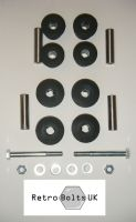 Leaf Spring Front & Rear Black Sport Polyurethane Bushes +  BOLTS - MK2 Escort